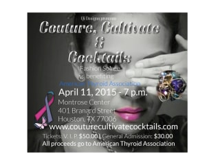 """Couture, Cultivate & Cocktails Fashion Soiree"" benefiting American Thyroid Association"