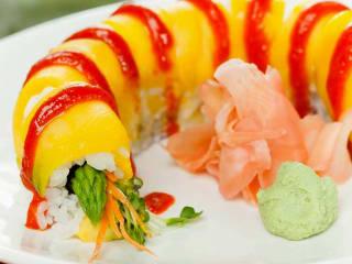 Sushi Zushi, veggie sushi roll