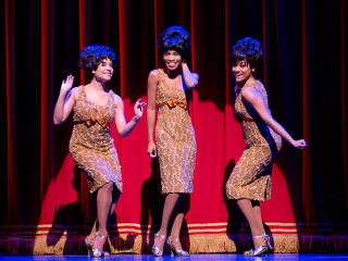Motown The Musical with Sydney Morton as Florence Ballad, from left, Valisia LeKae as Diana Ross and Ariana DeBose as Mary Wilson The Supremes