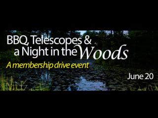 Houston Arboretum & Nature Center Presents BBQ, Telescopes & a Night in the Woods