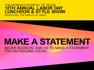The Woman's Hospital of Texas 12th Annual Labor Day Luncheon & Style Show
