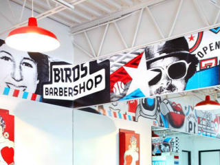 Birds Barbershop Inside Sign