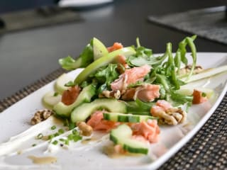 Waters salmon salad