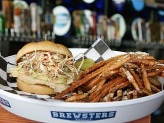 Brewsters pulled pork sandwich