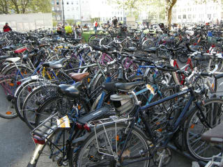Clifford in Munich April 2014 bicycles