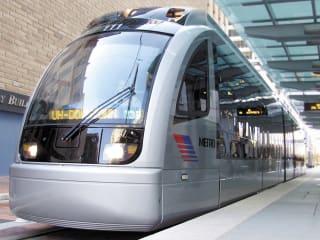 METRORail, light rail, train, downtown Houston
