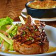 Pork chop at Sugarbacon restaurant in Dallas
