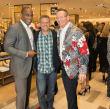 Jay Wayman, John Brenkus, Rob Vaka at Saks Super Bowl party