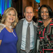 Co­chairs Jane and Michael Hurst with Angela Woodson, Preeti Jayaseelan