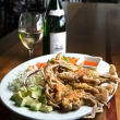 Houston, soft shell crab dishes, June 2017, Picos