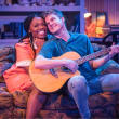 """Sky Williams and Kyle Igneczi in """"The Legend of Georgia McBride"""" at Uptown Players"""