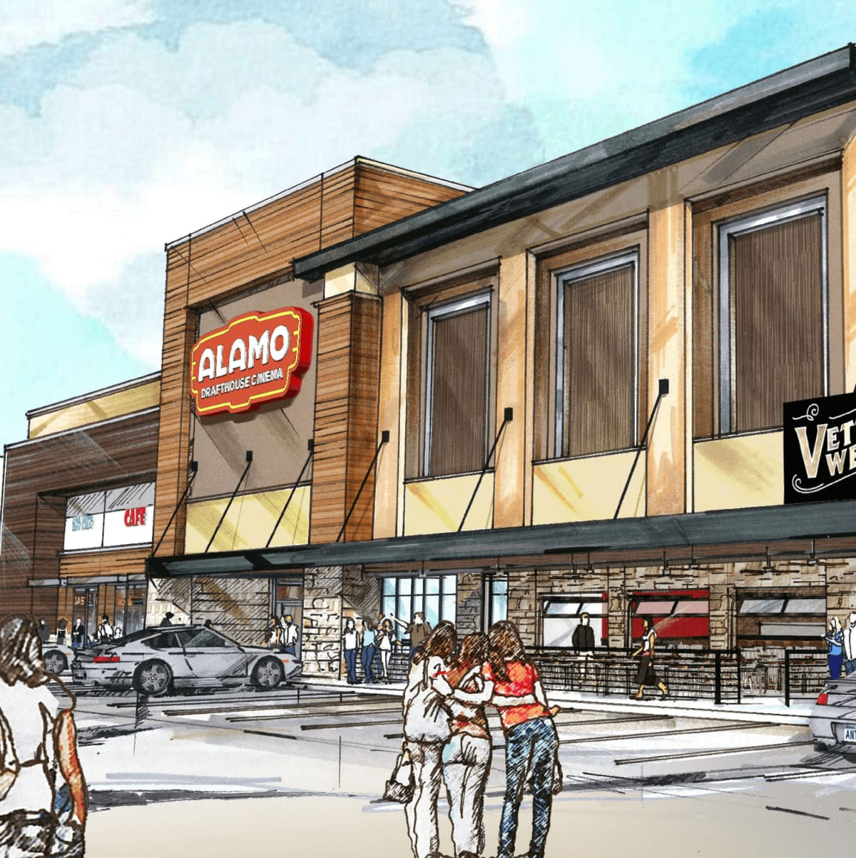 Rendering of Alamo Drafthouse at Skillman and Abrams