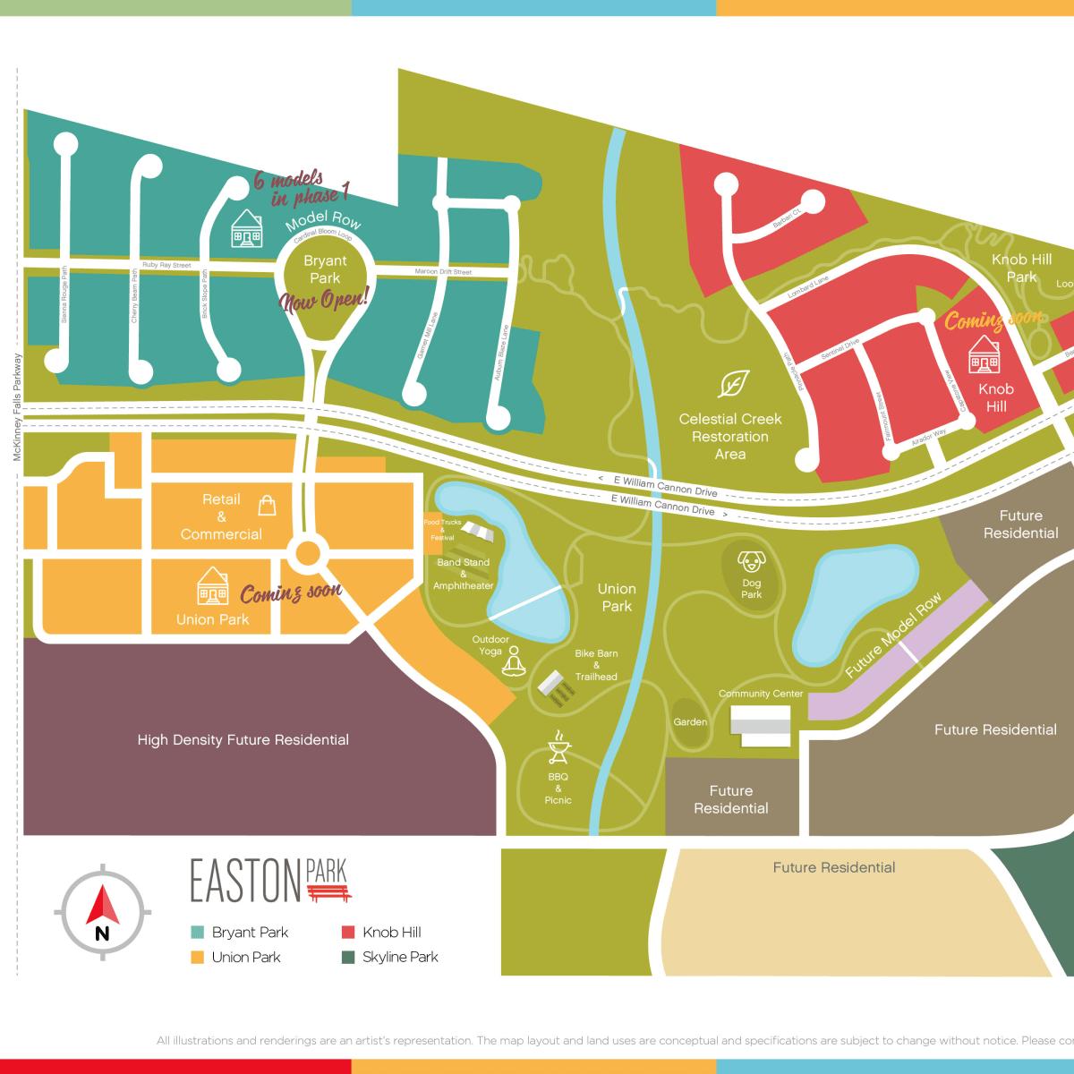 Easton Park development Austin map