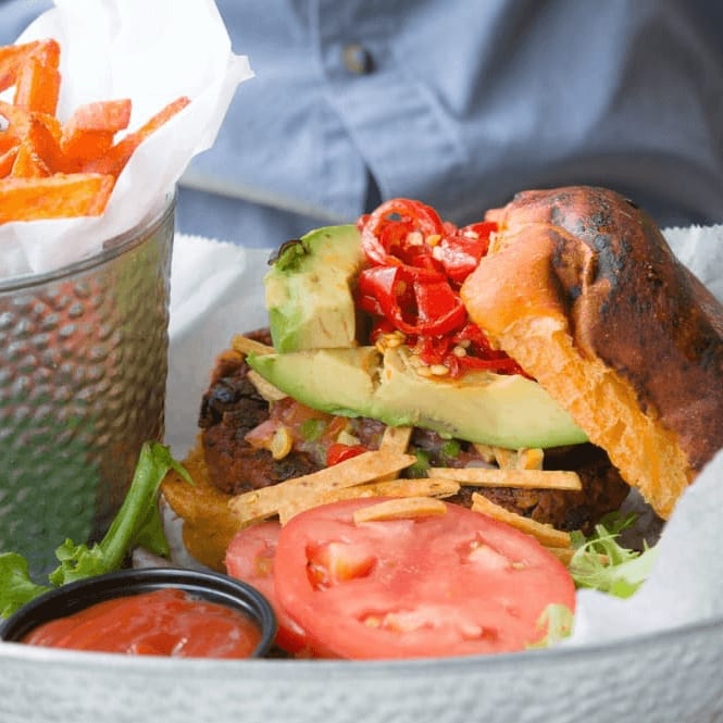 Greenhouse Craft Food black bean burger