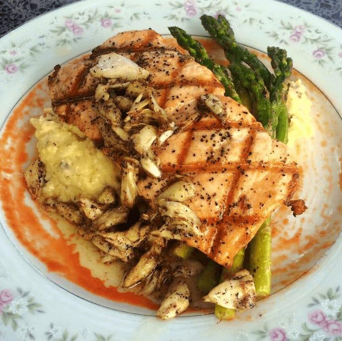 The Scarlet Rabbit grilled salmon Round Rock restaurant