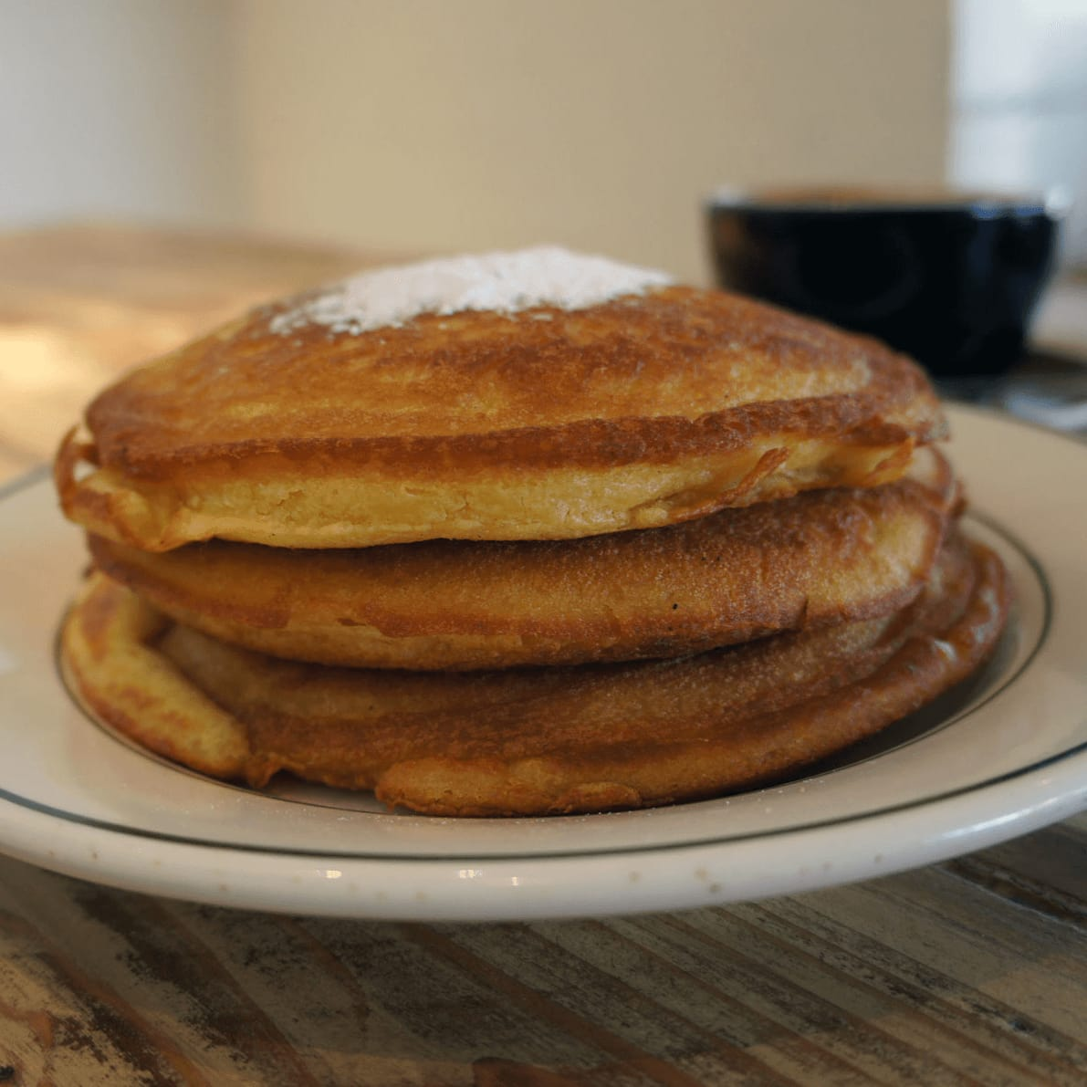 Buttermilk pancakes at Oddfellows in Bishop Arts District in Dallas