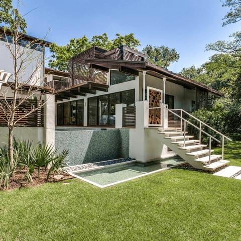 Houzz Dallas house home sunroom Highland Park exterior