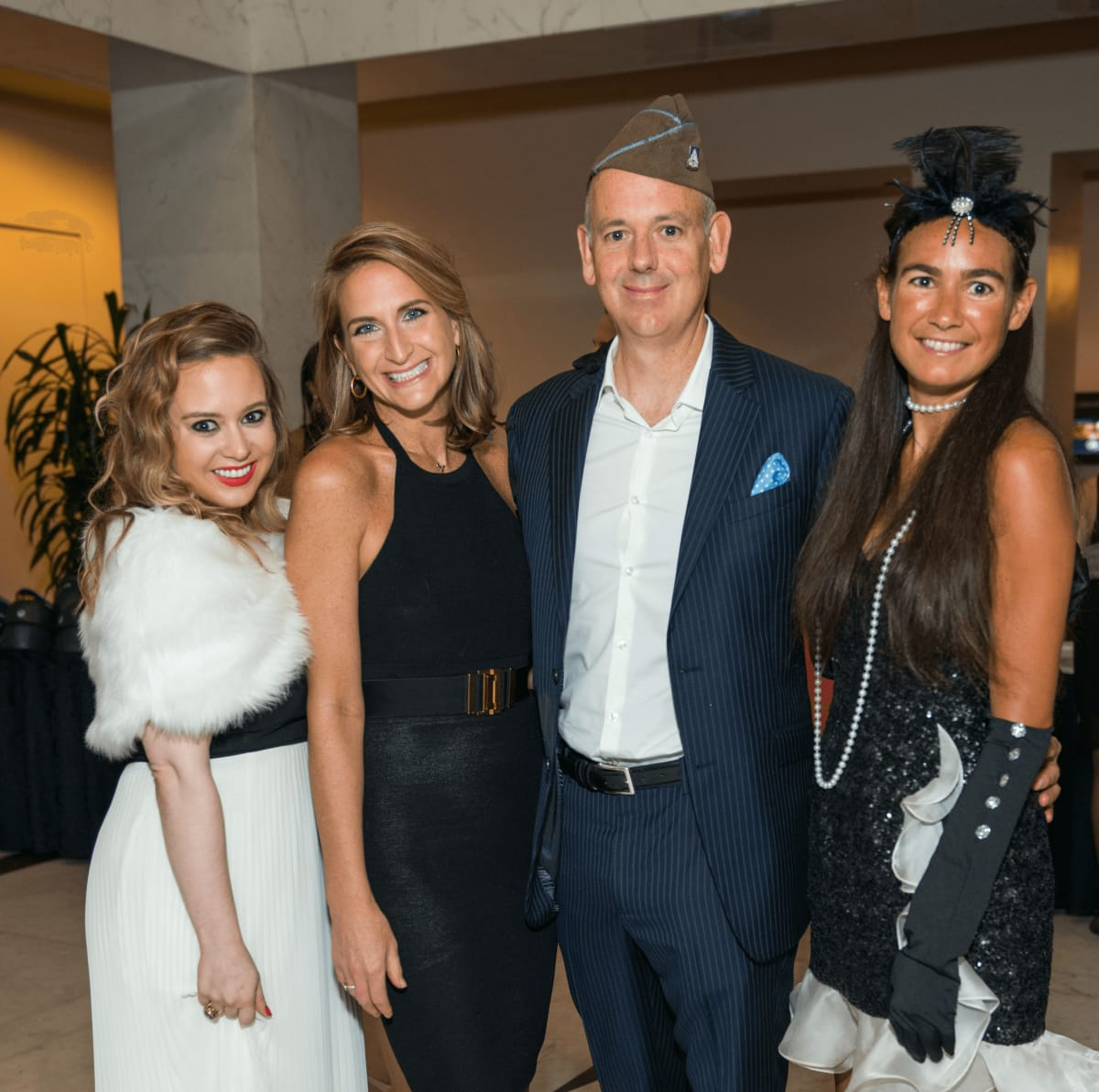 Megan Blaisdell, Sarah Hartland, Maston Allen, Anne Burgot at Mission of Yahweh gala