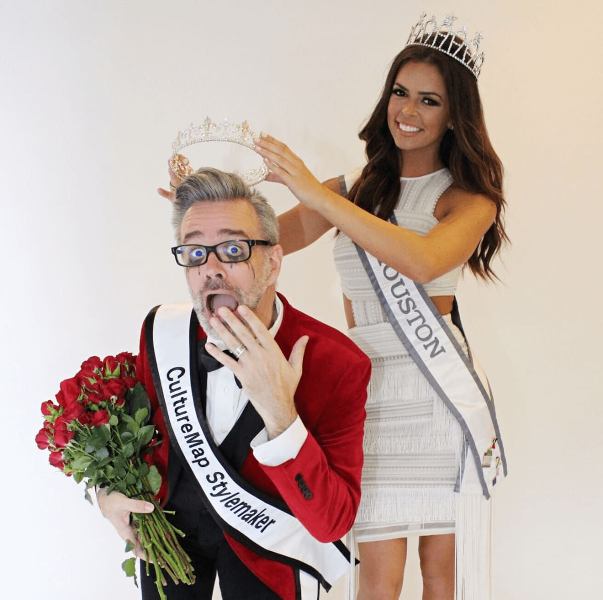 Michael Pearce Stylemaker crowned by Miss Houston