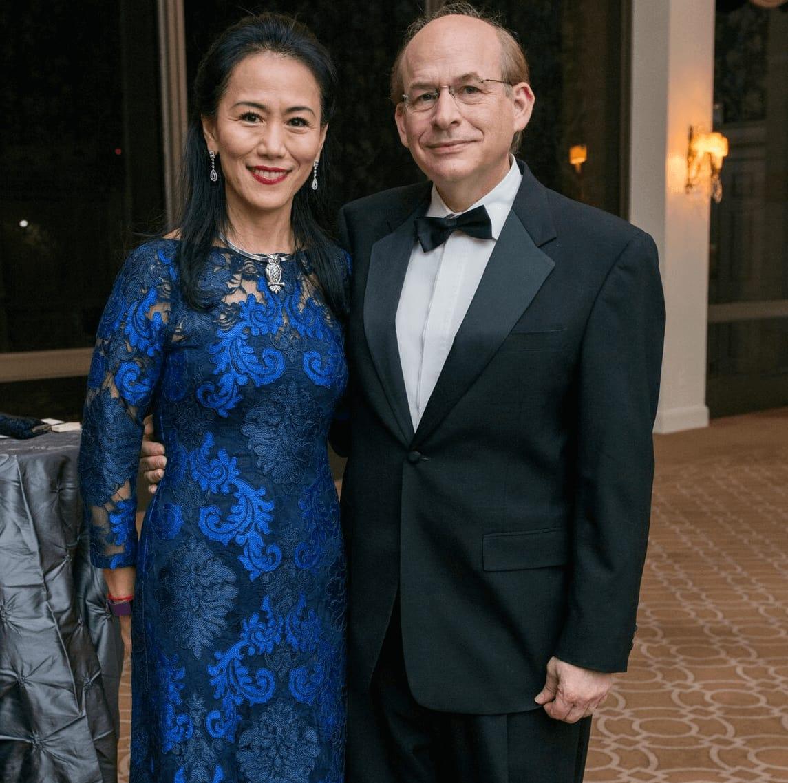 Y. Ping Sun, David W. Leebron at Rice Honors Gala