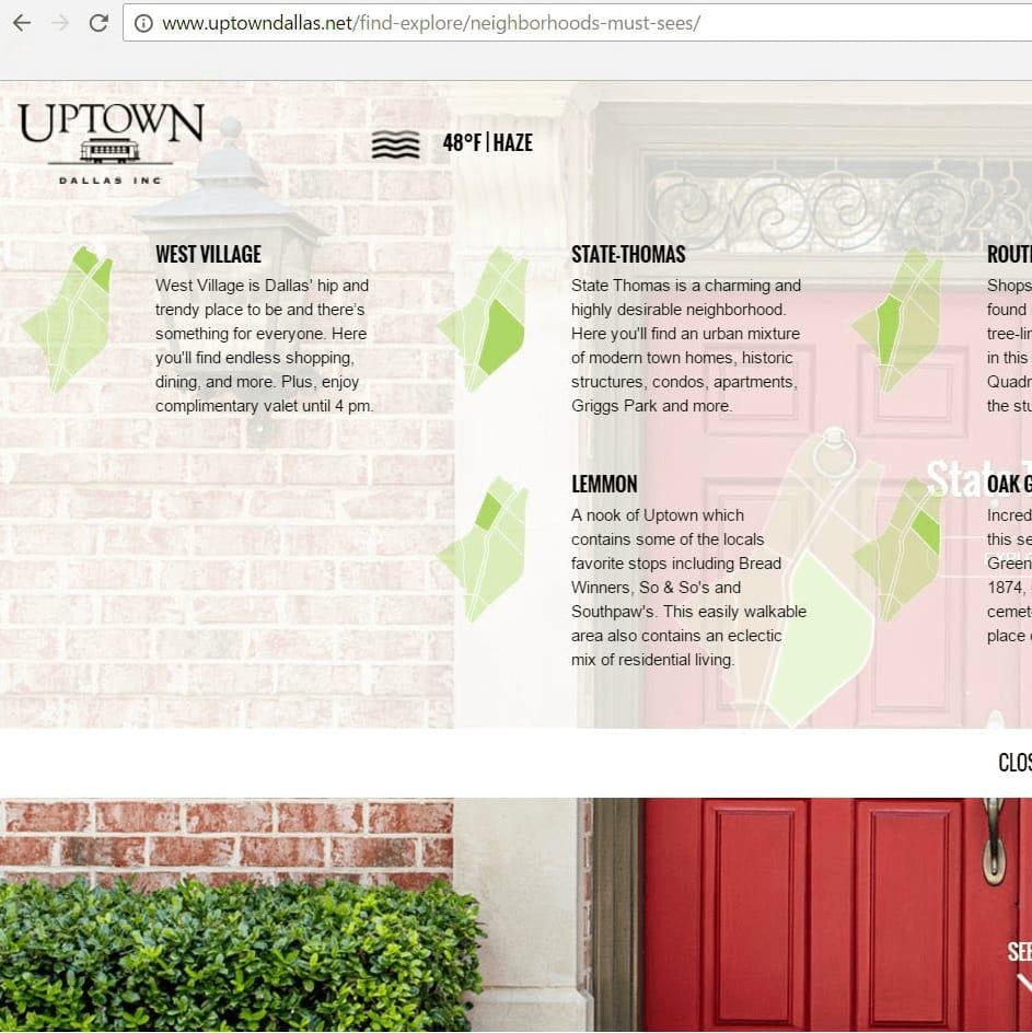Uptown Dallas Inc new website