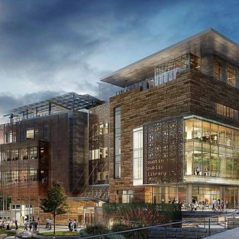 Austin Central Library downtown rendering