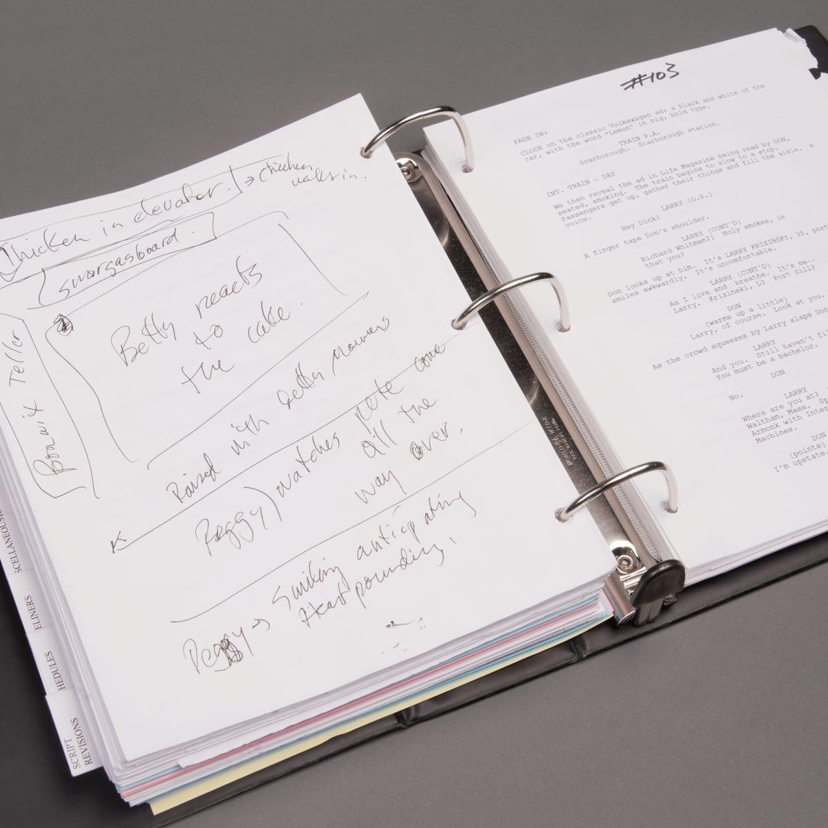 Mad Men archive Harry Ransom Center Matthew Weiner script The Marriage of Figaro