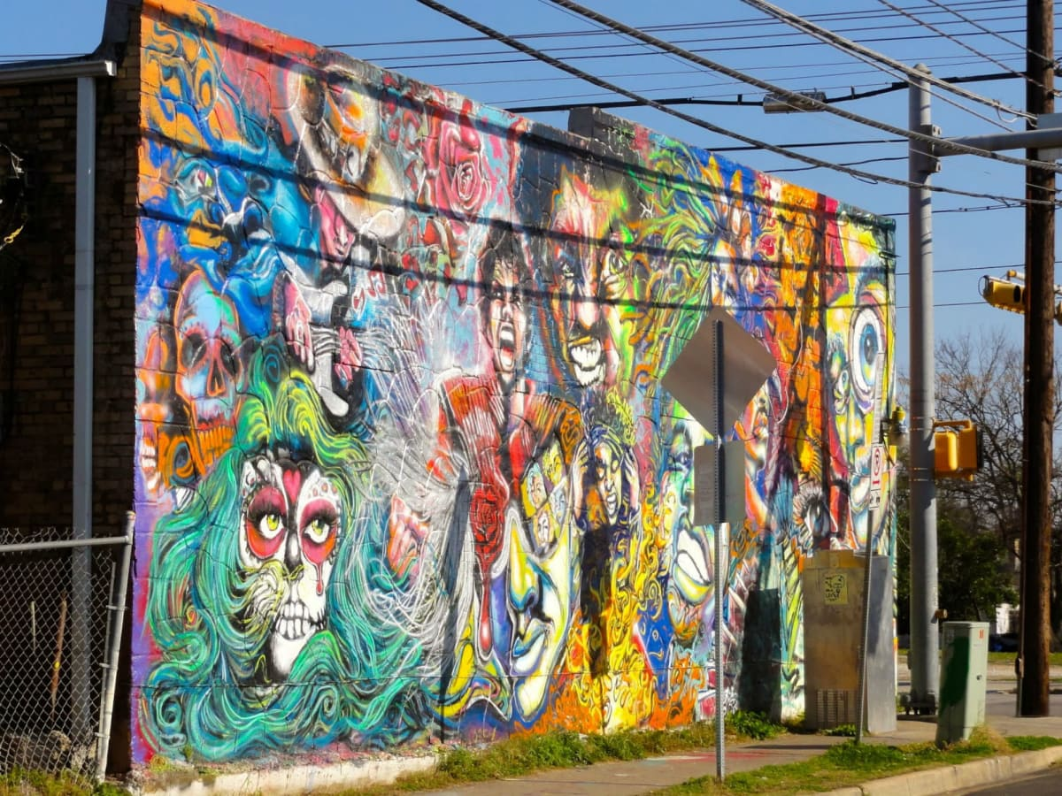 Beloved austin mural painted over artist shocked and for Austin mural tour