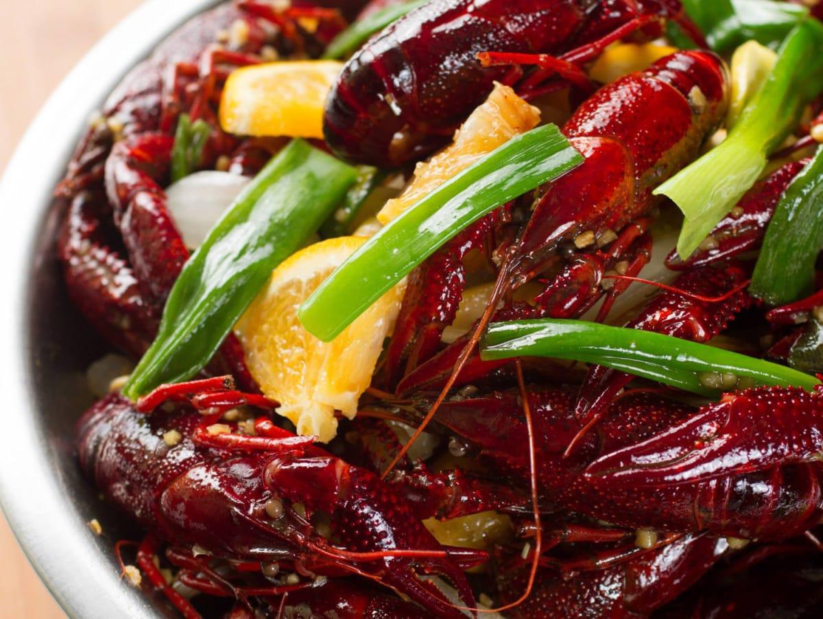 Cajun Kitchen kitchen special crawfish green onions oranges