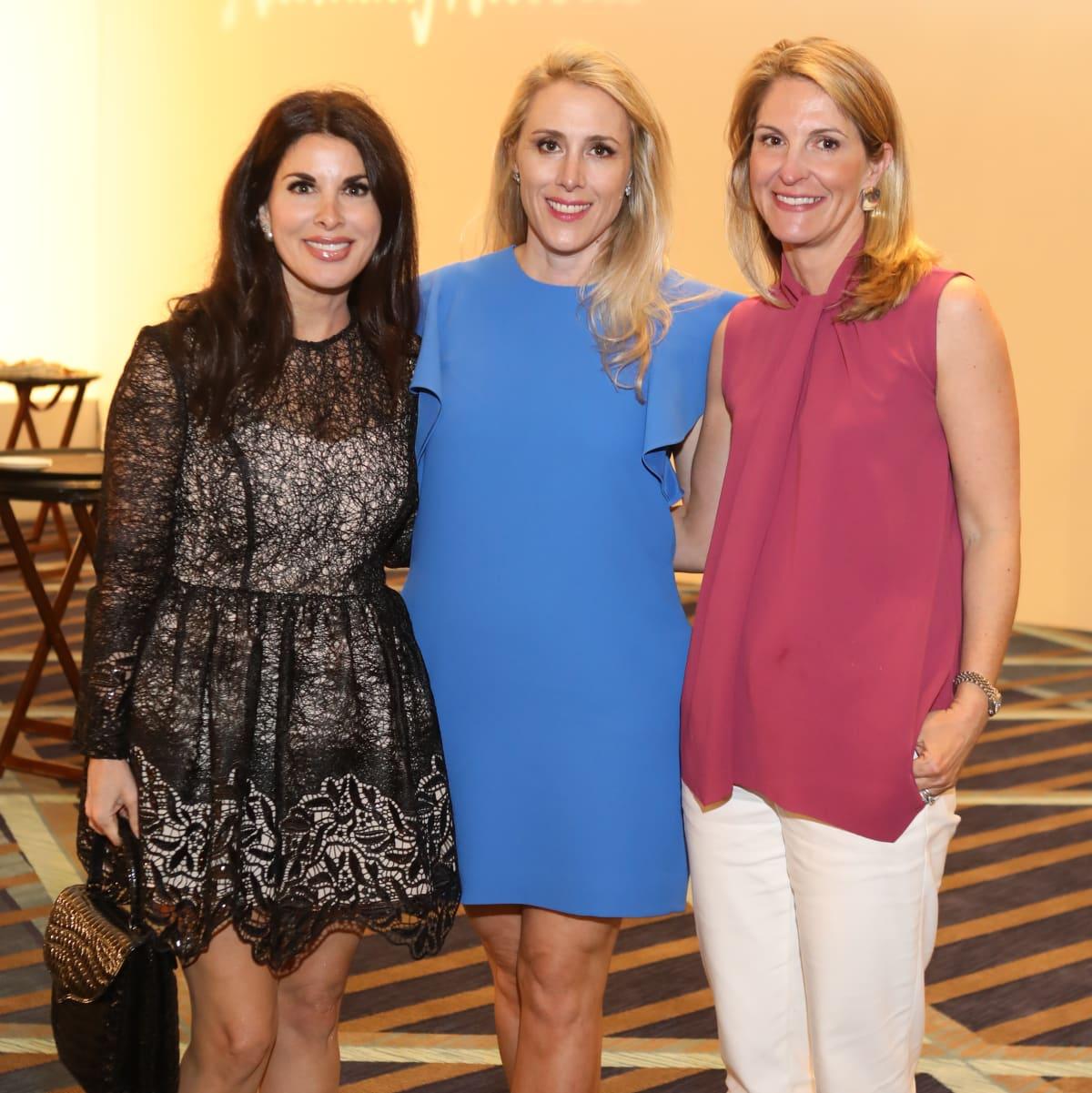 Alissa Maples, Christie Sullivan, Unidentified guest at Best Dressed Luncheon 2017