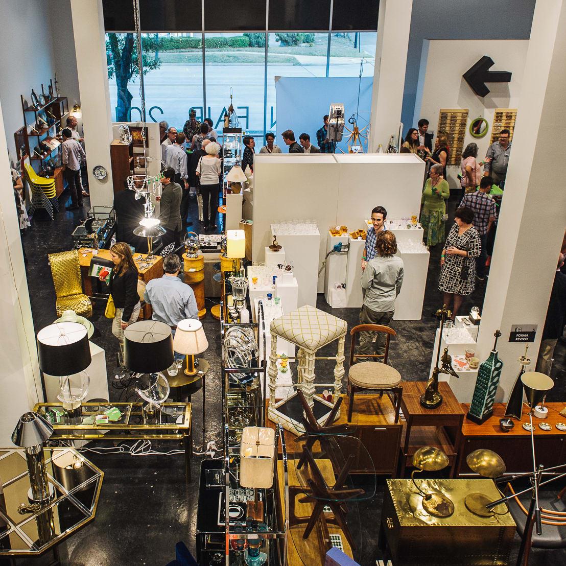 2 Houston Design Fair kick-off party April 2013 crowd venue