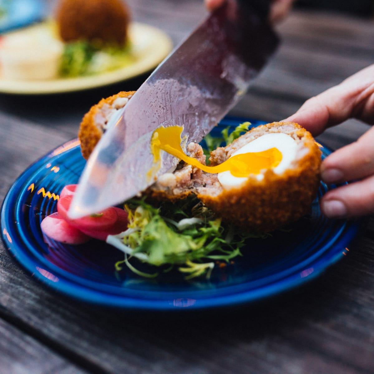 Native Hostel brunch Scotch egg