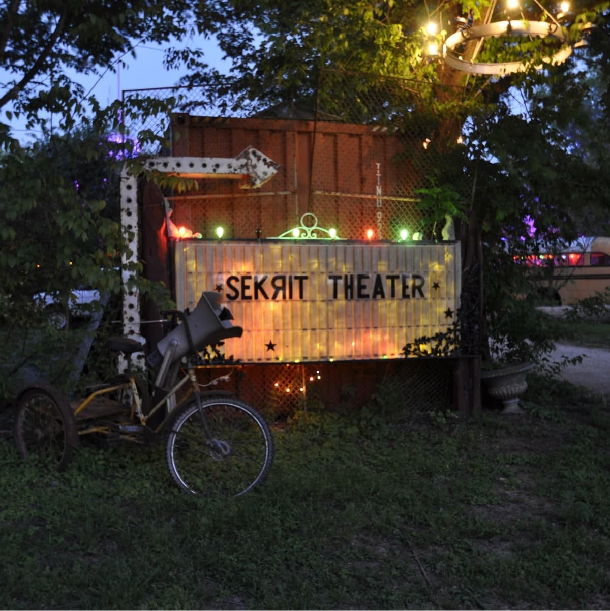 Austin Sekrit Theater sign