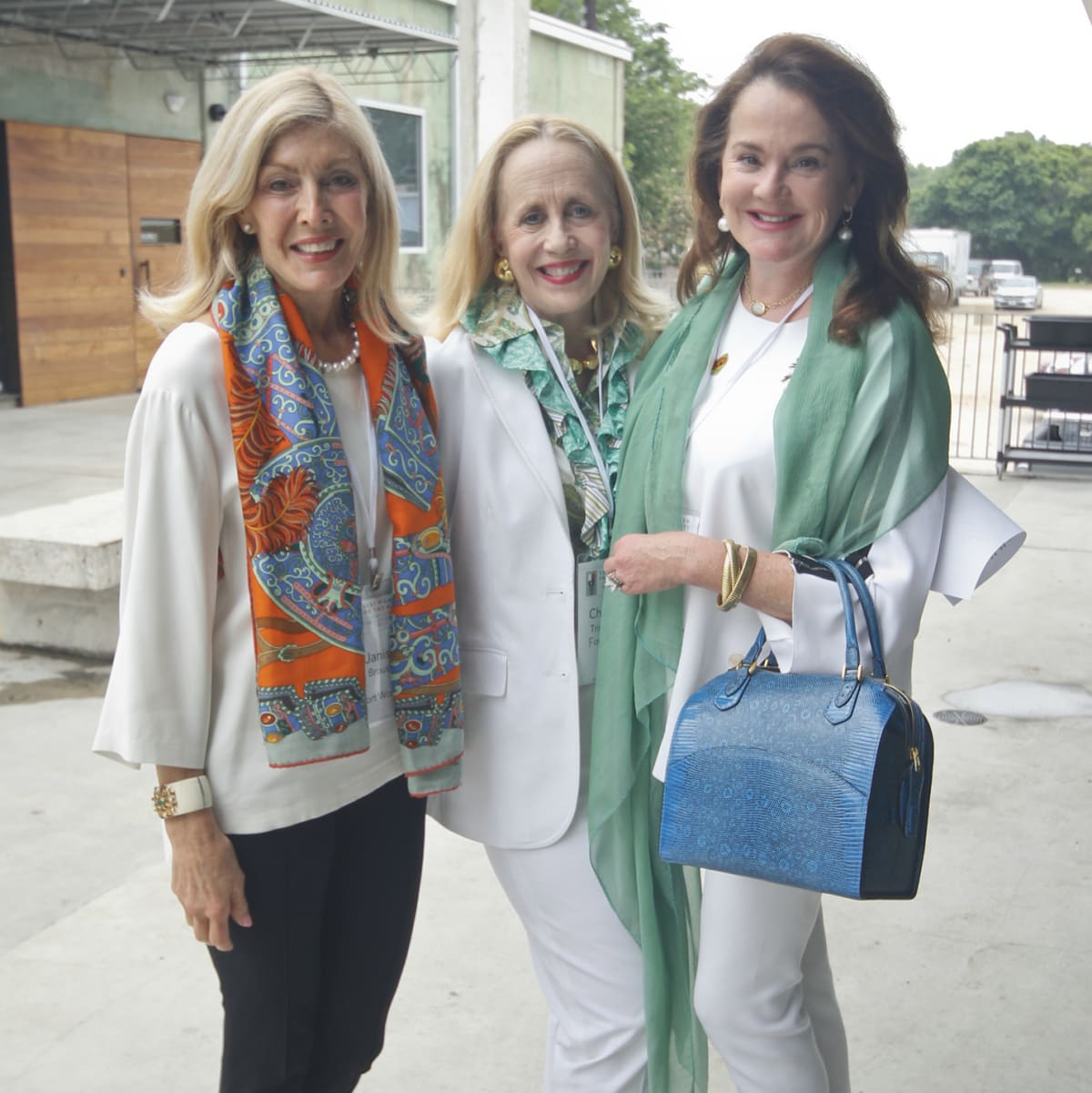 Texas Women for the Arts Meeting 2017 Janis Brous Charlotte Tripplehorn Lisa Kopecky