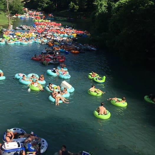 Tubing float Comal River New Braunfels Comal Tubes