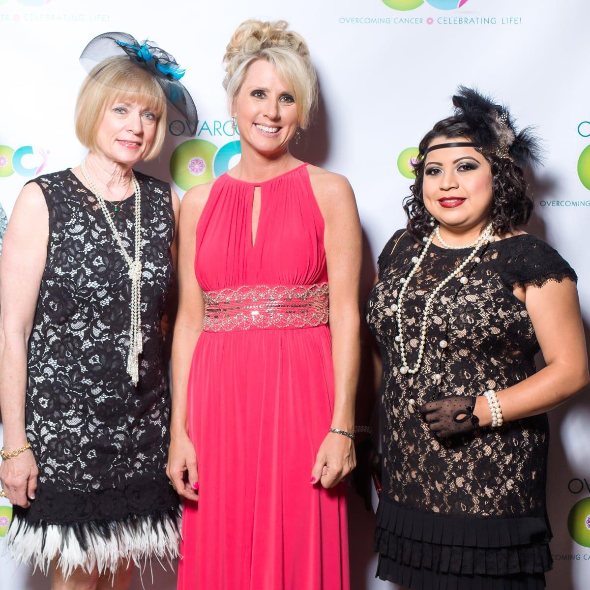 Houston, Ovarcome Gala, May 2016, Liz Stegall, Karen Shayne, Nancy Hernandez