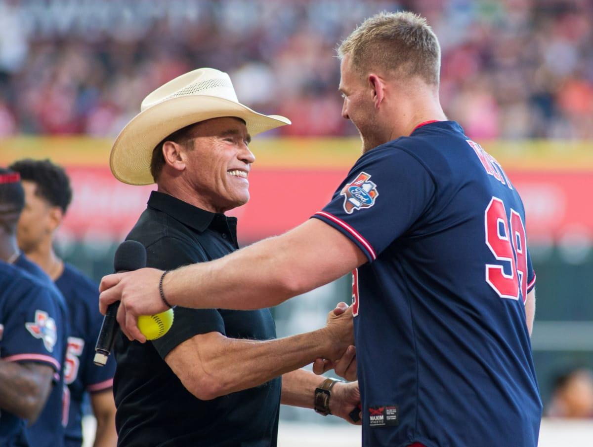 Houston, J.J. Watt Charity Classic, May 2017, JJ Watt, Arnold Schwarzenegger.
