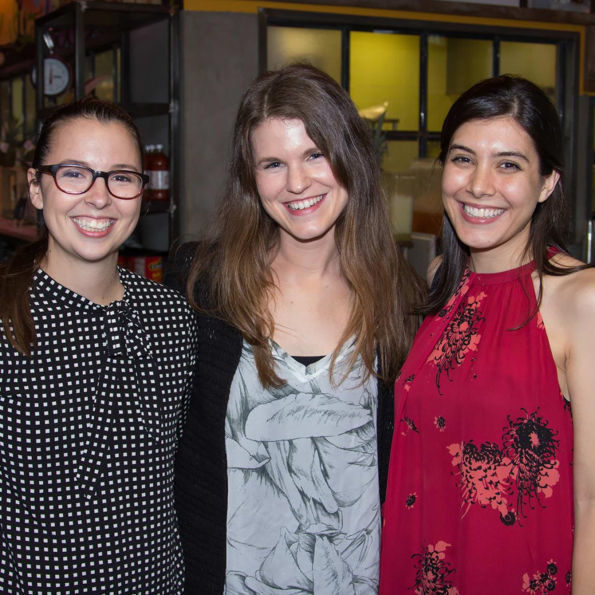Lauren Thomas, Danielle Hargett, Jillian Mock