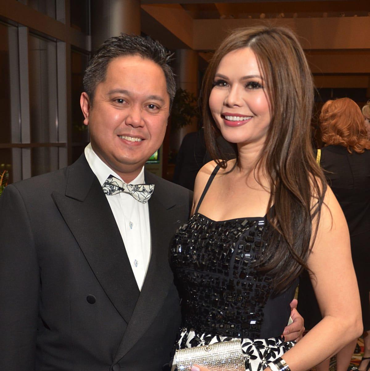 Texas Heart Institute dinner, Feb. 2016,Dr. Daryl Dichoso, Amy Dichoso