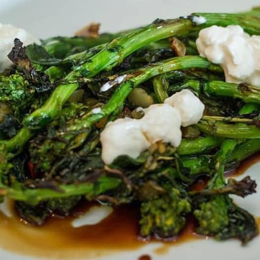 Unit D Pizzeria broccoli rabe dish 2015