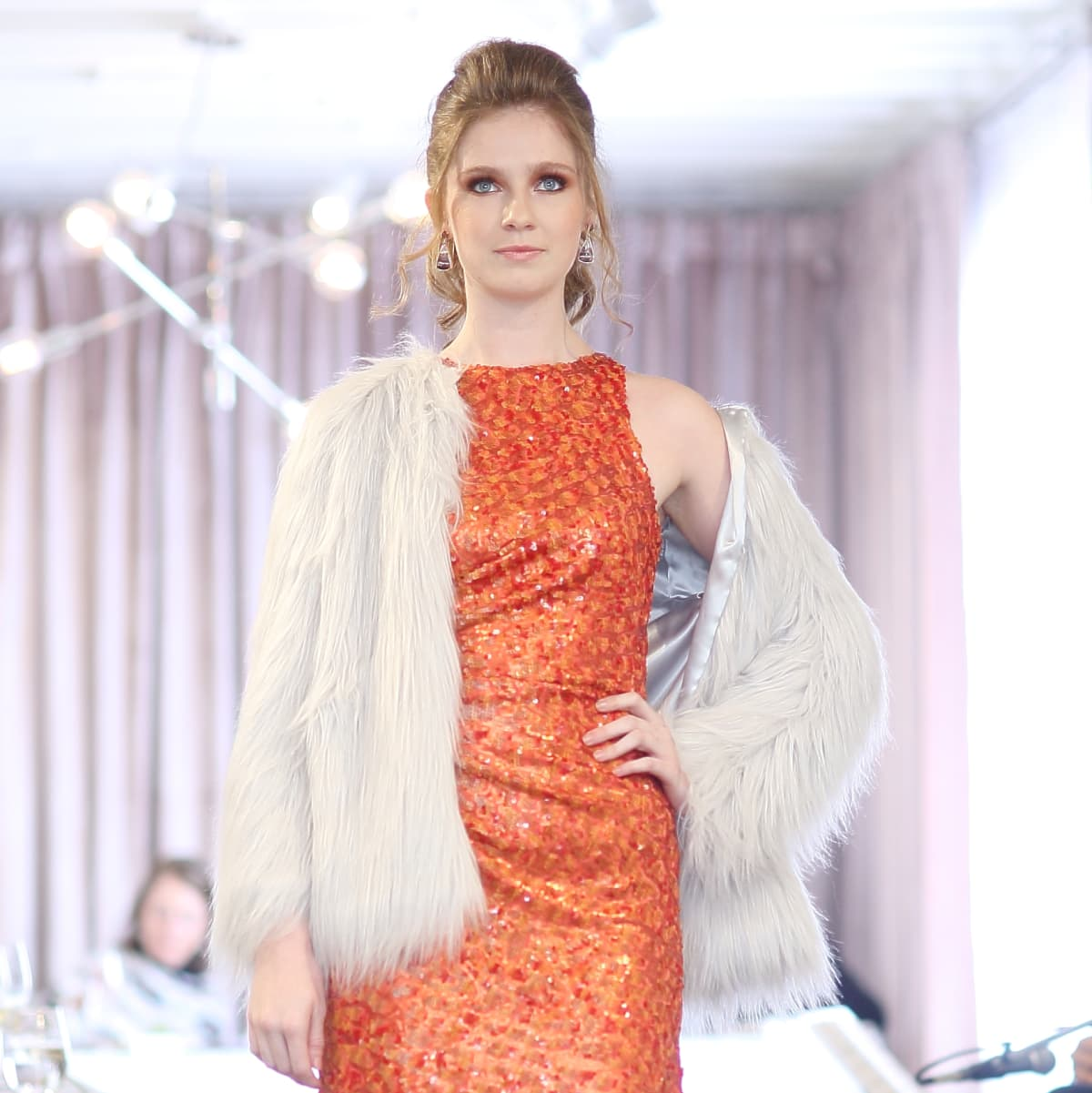 Miles David Lexi gown and Addison jacket