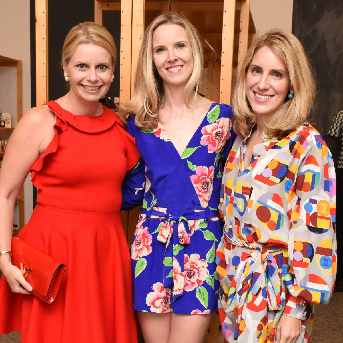 Valerie Dieterich, Kirsten McDaniel and Melina McCarty BIshop at Recipe for Success Dress for Dinner event with Lucy Sykes