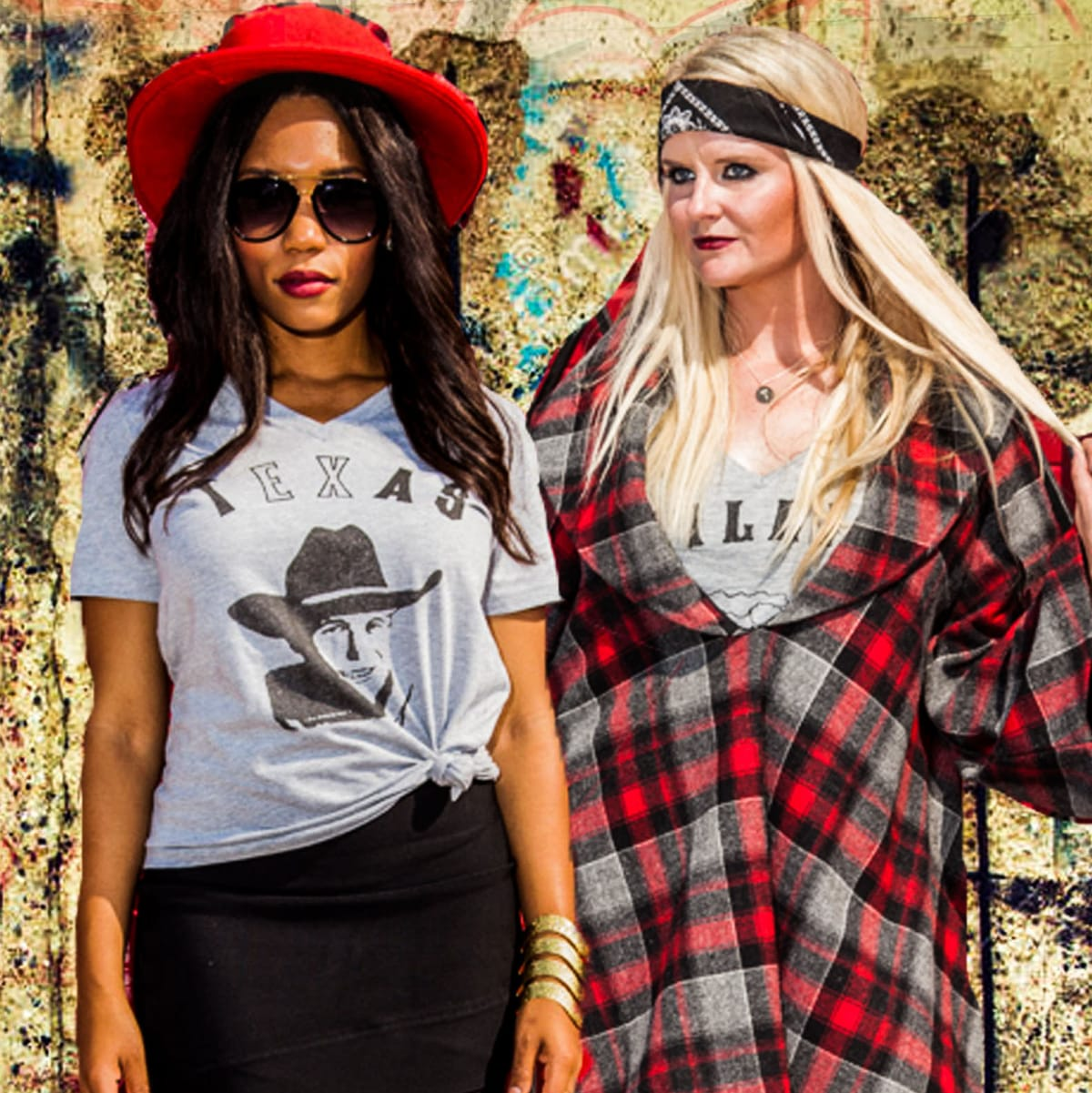 Brittany Darrington, Amy Tyndell cofounders of Oil Diggers Tee