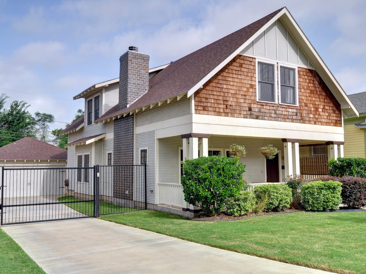 Just reduced historic district bungalow appeals to the for Craftsman style homes for sale dallas tx