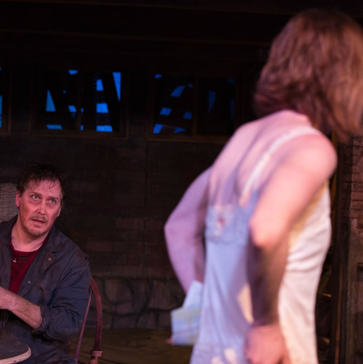 Greg Holt and Felicia Bertch in The Birds at Theatre Too
