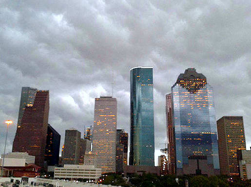 Houston, downtown storms, August 2017