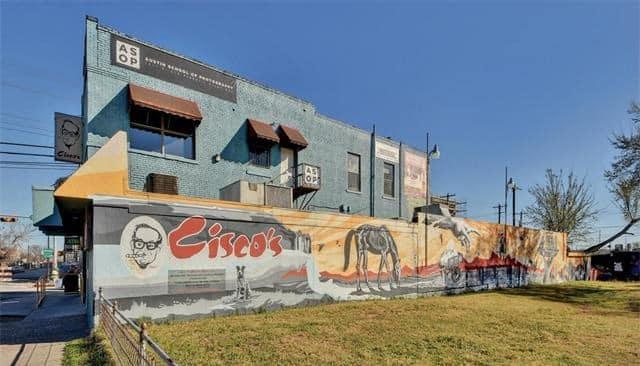 Cisco's Restaurant Bakery for sale 1511 E 6th St Sixth Street mural