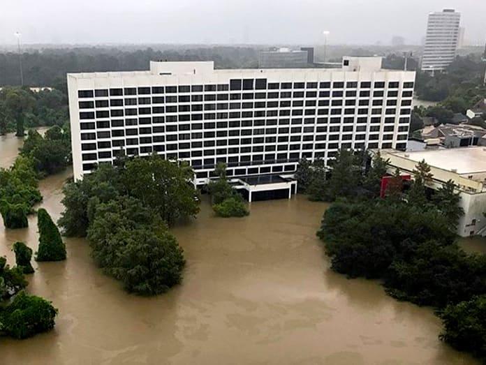 Houston, Hurricane Harvey, flood photos, Omni Hotel