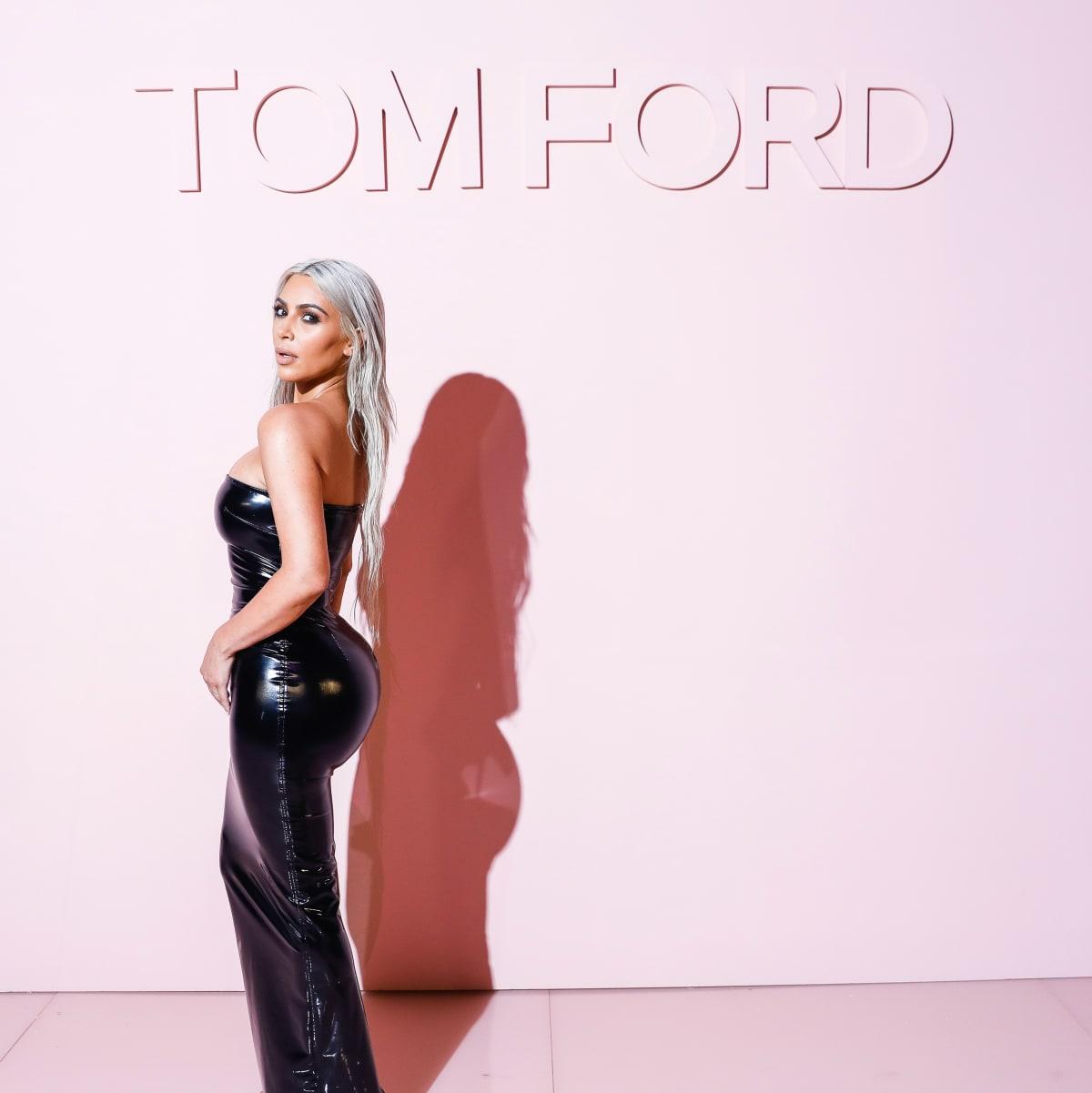 Kim Kardashian at Tom Ford show in New York Fashion Week recrop