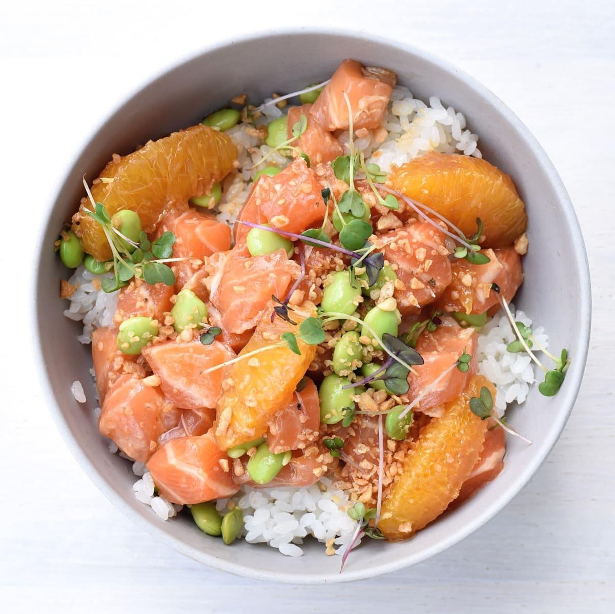 SeaSide Poke salmon ponzu bowl